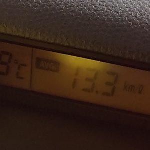 燃費記録:18.01.02 (急いで皮肉な結果に・・・